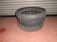 "Job lot of three 19"" used motocross tyres"