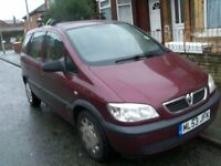 Vauxhall Zafira MPV 7 Seater Manual Low Mileage Long 10 Mot CD Radio Player all Papers Two keys
