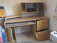 Computer Desk, excellent condition: drawers, cupboards & filing unit