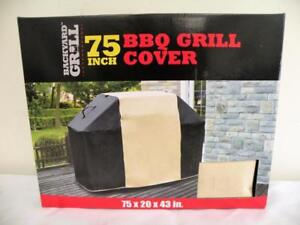 New, Backyard Grill Waterproof BBQ Grill Cover 75 inch- 191 x 51 x 109 cm
