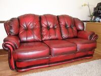 sofa made of leather in good condition.