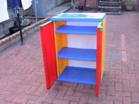 strong sturdy colourful children kid storage cabinet wembley used