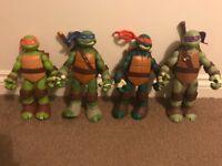 Large Teenage Mutant Ninja Turtle figures