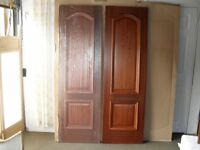PAIR OF BRAND NEW AND UNUSED LUVIPOL SAPELLE VENEER INTERIOR DOORS