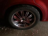 20 inch Status rims and tires.Trade for a different style.