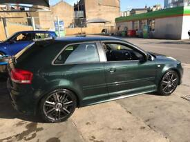 AUDI S3 2008 DEEP PEARL GREEN. CUSTOM PAINT FROM FACTORY