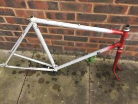 Vintage Marlboro road bike frame - large- perfect for single speed