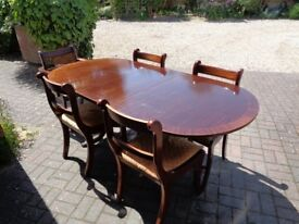 Mahogany dinning table & 5 chairs
