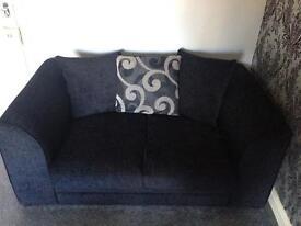 Bargain! Black two seater sofa £60 Ono