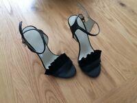 Karen millen black shoes and bag