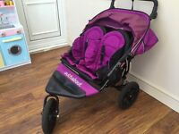 Out n about double 360 Nipper V3 Pram (Purple Plush)