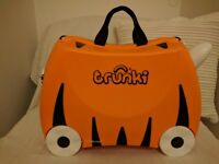 Trunki tiger ride on suitcase, excellent condition
