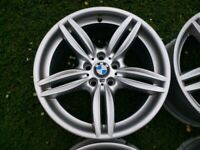 "19"" GENUINE BMW 5 SERIES F10 M SPORT ALLOYS 5x120 WHEELS 351M 8.5J / 9J E90 E91 E92 F30 F31"