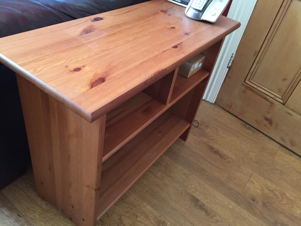 Ikea leksvik side table in antique pine in wallsend tyne and wear