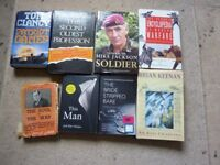 collection of army books + 2 others including vintage old