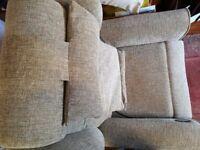 Willowbrook Montana nutmeg fabric riser recliner chair. AS NEW