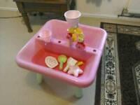 ELC pink sandpit/ water tray