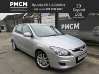 HYUNDAI I30 2010 1.4 COMFORT - S.H - MOT 19 - LOW INSURANCE - focus ceed astra (silver) 2010