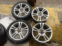 "17"" ACE ALLOY WHEELS MK4 GOLF BORA CELICA BETTLE TT POLO IBIZA LEON FABIA SET OF 4"