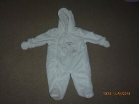 Baby all in one all in one snow suit - size 6-9 months