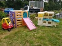 Selection of Little Tikes garden toys