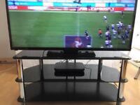 3 TIER BLACK SMOKED GLASS/CHROME TV STAND PET/SMOKE FREE JUST £40 !