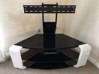 AVF Como Gloss White Cantilever Corner TV Stand worth £200