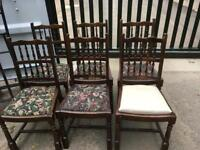 STUNNING SET OF SIX ERCOL DINING CHAIRS - CAN DELIVER