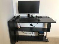 Foldable black desk