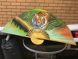 Large decorative Fan, Tiger,