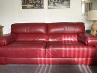 Three seater sofa and armchair