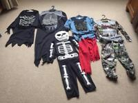 Boys Halloween costume selection ranging from age 3-5 years to age 8-10 years.
