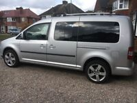 2008 VW Caddy Maxi Life. A very scruffy but usable 7 seater used to haul teams, bands and rubbish.