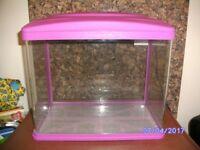 Pink Glass Starter Fish Tank