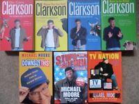7 Books by Jeremy Clarkson and Michael Moore - All in super condition
