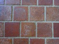 720 6 1/2'' x 6 1/2'' Reclaimed Victorian Suffolk red pammet pammets pamments pavers floor tiles