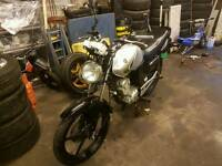 2007 YAMAHA YBR 125, FOR SPARES OR REPAIR, COMPLETE BIKE SOLD AS NON RUNNER