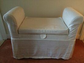 Bedroom storage seat