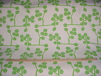 22-3/8Y LAURA AND KIRAN TWIGGY LIME BOHEMIAN FLORAL DRAPERY UPHOLSTERY FABRIC