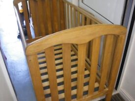 WOODEN 'JOHN LEWIS' COT at Haven Housing Trust's charity shop