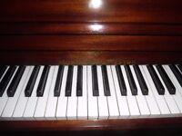 upright piano by monington and weston