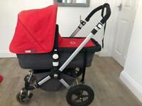 Bugaboo Cameleon, in red plus lots of extras