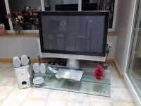 Immaculate JVC 42in Flat screen TV with JVC DVD player & JVC Cinema surround sound system