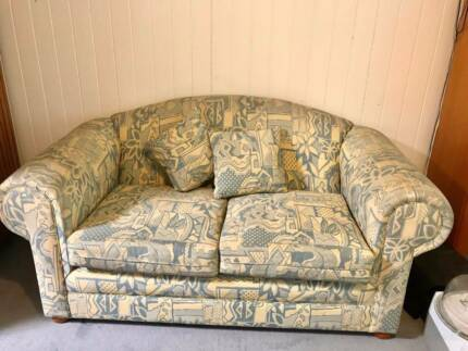 Set of two good-quality fabric couches