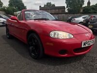 2002 MAZDA MX-5 ARIZONA 1.8 CONVERTIBLE * ONLY 67000 MILES + 12 MONTHS MOT + PART SERVICE HISTORY*