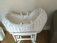 Moses Basket, Barely Used, Tags still on, perfect condition