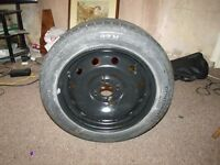 tyre and rim taken from renault clio 54 plate used for one day as new rim in good condition