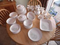 52 piece - 10 place dining service, serving dishes, cups, mugs, tea/coffee pot