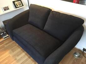 Dark blue 2 seater cuddle / lovers sofa