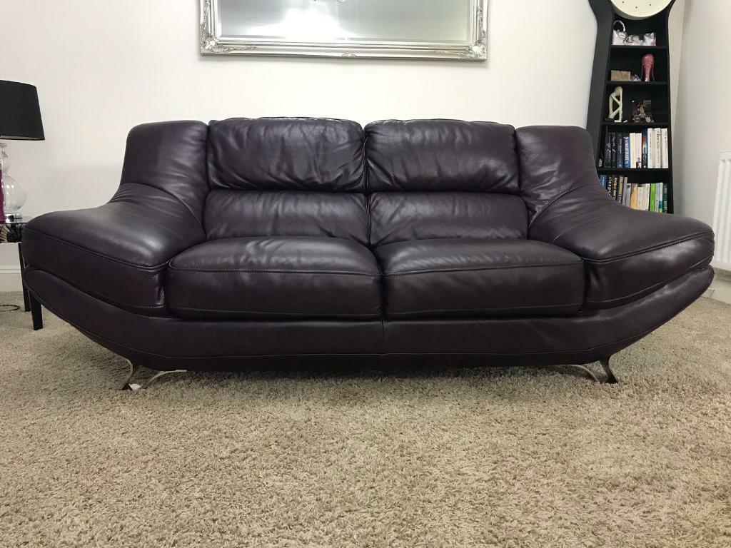 Aubergine sofa   in Bishop Auckland, County Durham   Gumtree